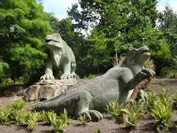 Dinosaures Crystal Palace Garden Londres.