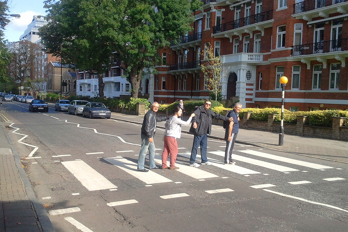 abbey road passage pieton londres