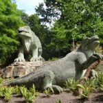 Dinosaures Crystal Palace Garden Londres.