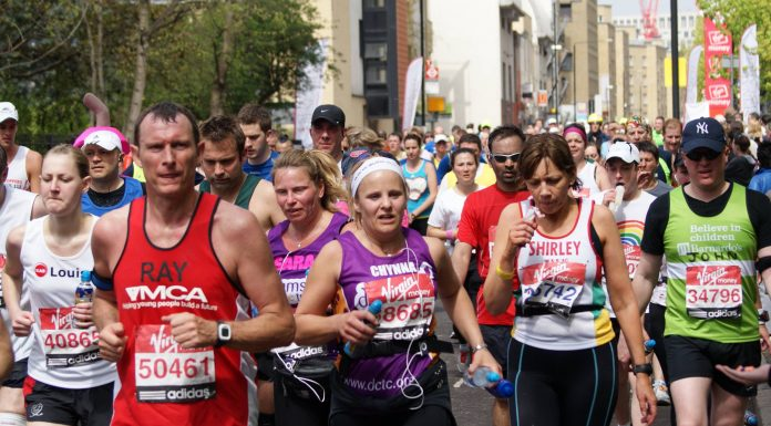 Le marathon de Londres.