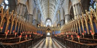 Interieur Westminster Abbaye Londres.
