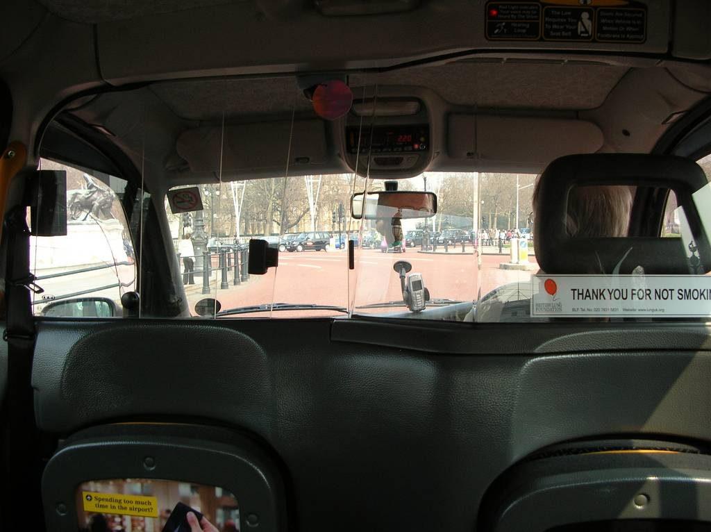 taxis londres interieur