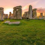 stonehenge coucher soleil