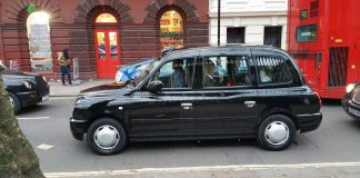 taxi londres noir