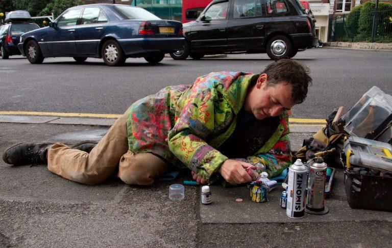Les chewing-gums des rues de Londres deviennent des œuvres d'art